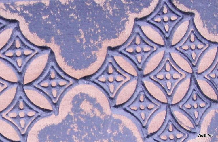 Sanded dark blue